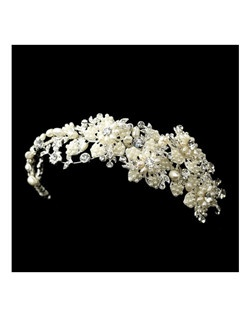 MARZIA - ITALIAN COLLECTION - Gorgeous crystal and pearl wedding headband