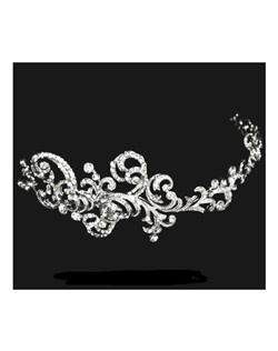 Mariana - Royal Collection - Designer Swarovski crystal swirl headband