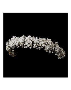 Royal collection Antique silver Swarovski crystal headband