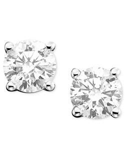 Diamond Earrings, 14k White Gold Diamond Studs (1/2 ct. t.w.)