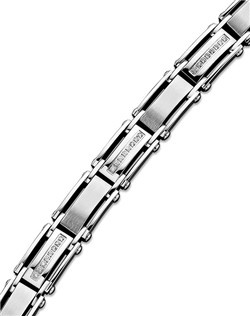 Men's Diamond Bracelet, Stainless Steel Diamond Bracelet (1/2 ct. t.w.)