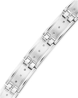 Men's Diamond Bracelet, Stainless Steel Diamond (1/4 ct. t.w.)