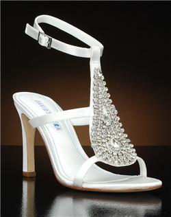 Embellished t-strap heel