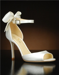 Peep toe ankle strap d'orsay with bow