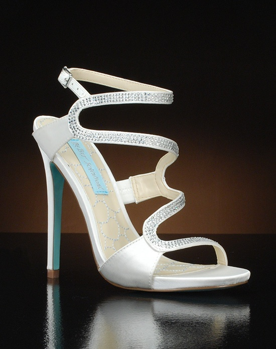 Open toe zig-zag strap stiletto