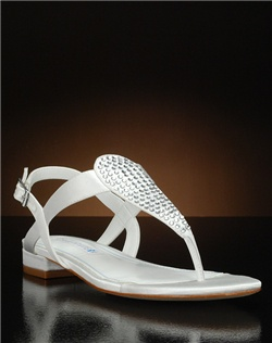 T-strap sandal with crystal accents