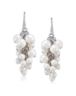 Sweet Pea Cluster Pierced Earrings