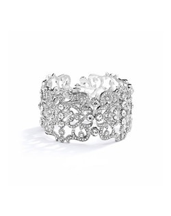 Beautiful Grecian Style Couture Crystal Cuff Bracelet