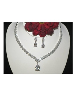Dreamy-Beautiful Elegant CZ Bridal Necklace Set
