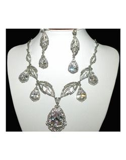 Kendra - Dramatic Statement Swarovski crystal bridal necklace set