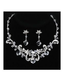 Keira - Rhinestone Scrolls Bridal Jewelry Set