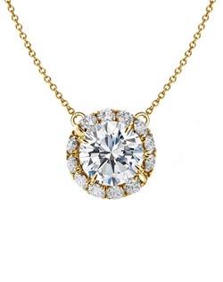 Handmade diamond swirl in yellow gold embracing center diamond.  Price excludes center stone