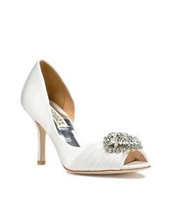 "Court Style, Organza Sash, 3 1/4"" heel"