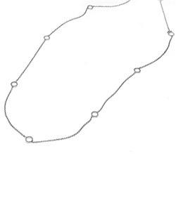 Timeless Designs platinum and diamond necklace.