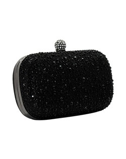 Glitter clutch with stones.