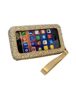 Glitter smart phone clutch.