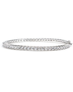 9 CTTW ROUND CZ BANGLE HINGE ALL-AROUND CLASSIC