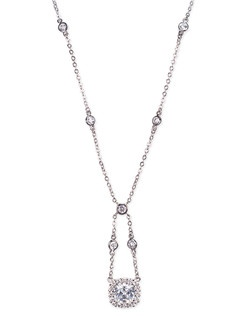 6 CTTW CUSHION CZ NECKLACE SWING FLUSH MOUNT