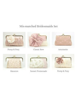 A unique clutch for each of your four bridesmaids is the perfect wedding day accessory and bridesmaids gift.