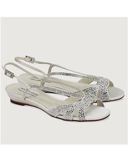 "1/2"" heel, sandal, crystal"