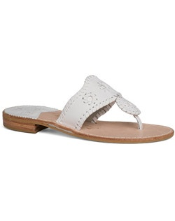The Classic sandal that put Jack Rogers on the map is available in a wedding-inspired color palette. Whether you're getting married on the beach and need a comfortable pair for walking down the aisle, or want something to slip into for the reception, this is your go-to pair. Choose from white or a handful of neutral metallic colors.