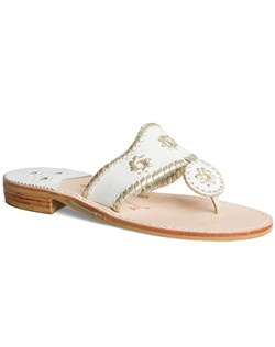 Our Hamptons Sandal is crafted in sleek white leather with our signature rondelles, and is finished with whipstitching in your choice of metallic - platinum, gold or silver. The perfect slip-on pair for after the wedding ceremony, you'll also love this comfortable style for your post-wedding brunch, your honeymoon, and more.