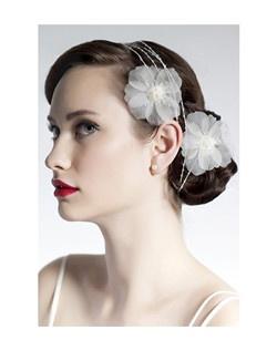 hair flowers, hair wrap head band