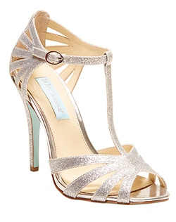 Glitter fabric upper, leather outsole material, 4 inch heel, round toe evening sandal, caged strap upper, buckle ankle strap