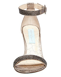 These gorgeous ankle strap sandals with crystal embellishment will be sure to dress up any special outfit!
