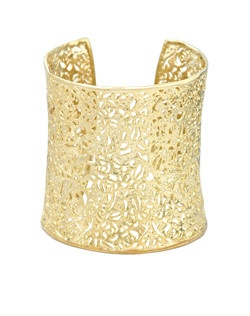 This filigree cuff bracelet from the Signature Collection is a light and stunning accent to your wardrobe. Price includes center stone and setting