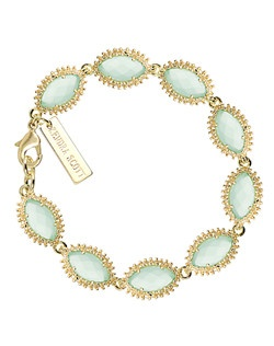 The classic Jana Bracelet is all the more stunning in this cool mint shade. Wear this dainty bracelet alone for a subtle statement or layer up with your favorite watch and bangles for a boho-chic vibe. Price includes center stone and setting