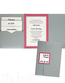 The 5 x 7 Gate Folio Pocket Weddings Invitation come in over 90+ different colors. These exclusive invitations allow you to mix and match different paper, ink and envelope colors creating that perfect combination for your special event. Available ala carte with complete customization so you can create a totally unique invitation.