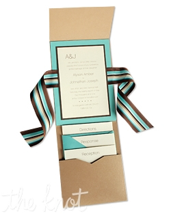 "MyGatsby's 5 x 7 Vertical Folio Pocket Wedding Invitations are available in 90+ beautiful paper colors. Because these exclusive invitations allow you to mix different ink, envelope, and paper colors, you are free to create a completely original wedding invitation combination that's all your own. In addition, all invitation pieces are completely customizable and are offered a la carte...so your creative options truly are endless! 5 1/4"" x 7 1/4"""