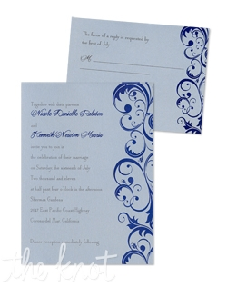 "For a fabulous flourish, consider these Amazing Amber Wedding Invitations. This is an updated take on traditional style. So if you are going for a contemporary look with classic flair, these timeless wedding invitations may be just the thing you're looking for. As a part of MyGatbsy's exclusive collection, Amber Wedding Invitations are fully customizable to suit your specific tastes. You will select from over 90 beautiful paper colors and 24 intriguing ink colors to create a totally original wedding invitation style to fit your specific taste. Starting at just $62.00 for 25 invitations! 5 1/4"" x 7 1/4"""
