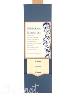 Amber Folio Pocket Wedding Invitations are an updated take on traditional style. If you are going for a contemporary look with classic flair, these timeless wedding invitations may be just the thing you're looking for. Your entire invitation will be presented as a beautiful package, with all your enclosure cards stacked and tucked neatly in its own little pocket. Choose from more than 90 paper colors and 24 Ink Colors to create a totally original wedding invitation style unlike any other.