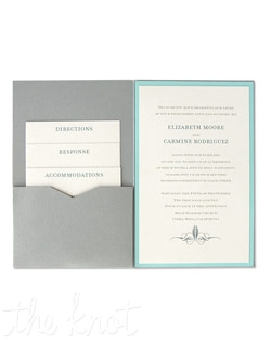 A streamlined and sophisticated wedding invitation option, The 6 x 9 Single Folio Pocket Wedding Invitation is completely customizable to meet your wedding invitation wishes. Choose from a variety of typestyles, ink colors, envelope colors, and choose your invitation paper from our 90+ paper color options to make a truly unique wedding invitation.