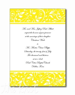 A delicate floral border frames your words of invitation on these single panel White cards. Available in four colors to express your personality and style.