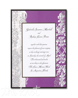 These colorful cards feature your words of invitation framed by an abstract floral border. We've added a Black backer to give this card a touch of layered elegance.