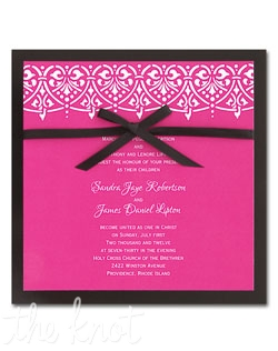 A swag of pretty hearts forms the top border on these colorful square cards. We've added a shinny Black backer and a Black satin ribbon to give it a touch of sophistication.