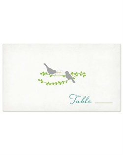 Sweet little bird silhouettes and delicate hanging vines give this artistic design a casual yet elegant, nature-inspired style. The design pairs lively fresh green and blue hues for a fresh, one-of-a-kind look.