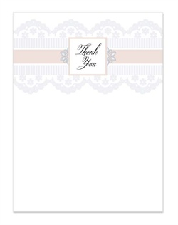 Feel the romance of this formal design, adorned with a modern interpretation of lace in 3 color options. Prints on a large square shape cards. Lots of flourishing fonts and romantic details.