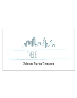 Perfect for a New York City event, this modern style design features a unique hand-illustrated cityscape with one-of-a-kind typography. Personalize yours in one of 3 colors.