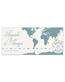 Delight your guests on their journey to your wedding destination with this unique, travel-inspired design. This design is available in five color options, and can be personalized with your favorite photo.