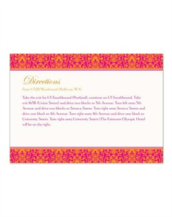 Make a bold style statement for your special day with the rich, gorgeous color in this magnificent, detailed pattern, available in four color combinations, with the option to personalize with a photo.