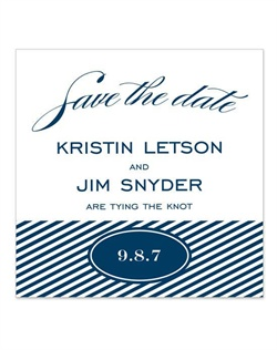 A classic choice for a nautical-inspired wedding, you'll love the seaside blue color and elegant nautical motifs. Create the perfect mood for your seaside event, with 2 different options for personalized save the date cards.
