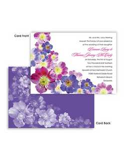 "These gorgeous Annabeth watercolor garden wedding invitations are perfect for a Spring or Summer wedding outdoors full of lush and vibrant colors. Be sure to check out our 12 different color combinations from vivacious royal blues, turquoise and purples, to lively yellows, reds and oranges.  7 3/4"" x 5 1/2"""