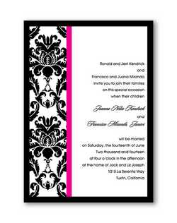 "Invitations available with coordinating Venetian Seals. Great to use on your inner or outer envelopes!  5 1/2"" x 7 3/4"""