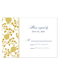 Vibrant colors energize the lattice-like floral pattern in this modern classic. A mix of formal and casual font styles with a classical layout of text keep an elegant formality to the romantic vibe in this one-of-a-kind design.