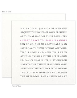 A stunning letterpress wedding stationery suite featuring clean, modern typography and the gorgeous tactile beauty of the letterpress process.