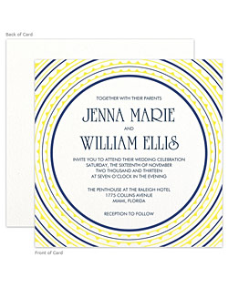 A stunning letterpress wedding stationery suite featuring a fun border design to frame the text and the gorgeous tactile beauty of the letterpress process.